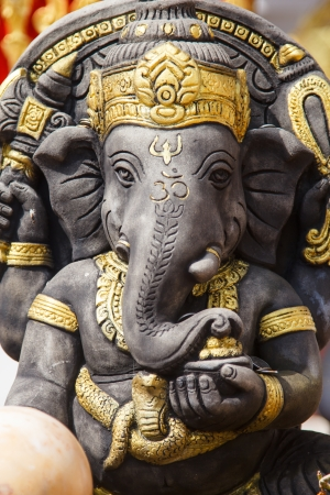 Idol of the Hindu Elephant God Ganesha in a sitting posture. Credit www.box.com