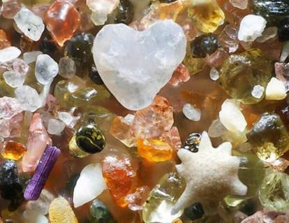 Beach Sand Grains Magnified 250 times